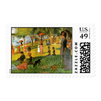 A Sunday Afternoon on the Island of La Grand Jatte Postage Stamps