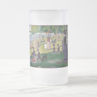 A Sunday Afternoon on the Island of La Grande Jatt Frosted Glass Beer Mug