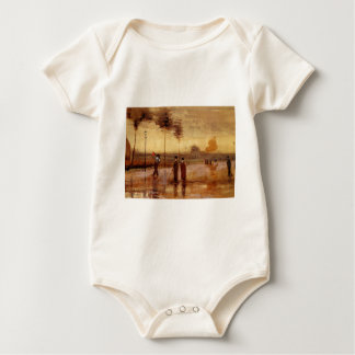 A Sunday in Eindhoven by Vincent van Gogh Baby Bodysuit