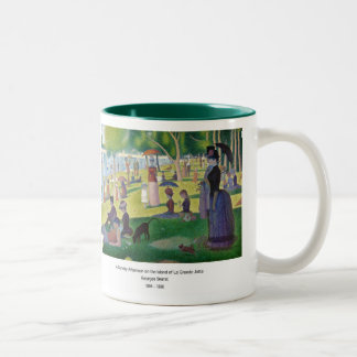 A Sunday ON La Grande Jatte and Georges Seurat, 18 Two-Tone Coffee Mug