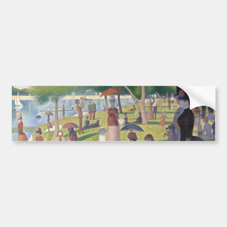 A Sunday on La Grande Jatte by Seurat Car Bumper Sticker