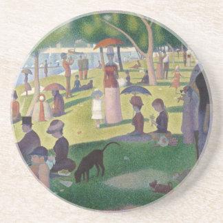 A Sunday on La Grande Jatte by Seurat Drink Coaster