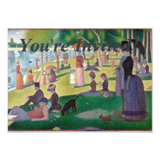 A Sunday on La Grande Jatte Georges Seurat Card