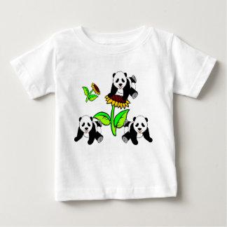 A Sunflower and Panda Bears T Shirt