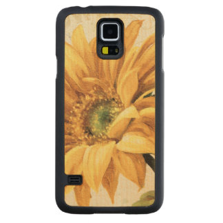 A Sunflower in Full Bloom Carved Maple Galaxy S5 Case