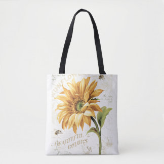 A Sunflower in Full Bloom Tote Bag