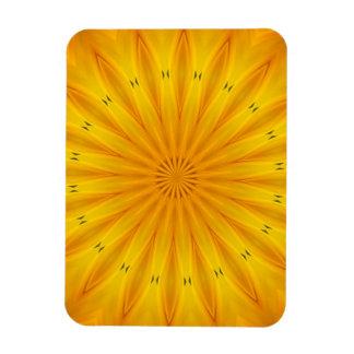 A Sunflower Kaleidoscope Magnet
