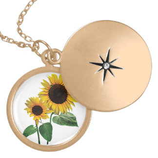 A Sunflower Mommy's Love Locket Necklace
