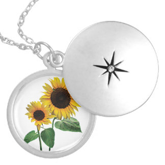 A Sunflower Mommy's Love Silver Plated Necklace