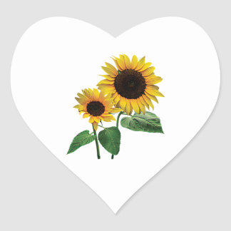 A Sunflower Mommy's Love Heart Stickers