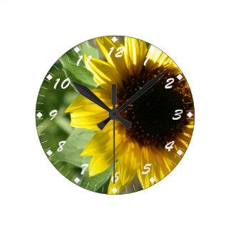 A Sunflower Round Clock