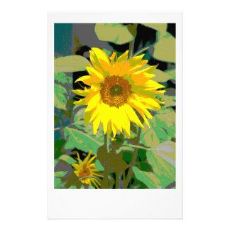 A sunflower stationery