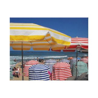 A sunny day on Biarritz beach Canvas Print