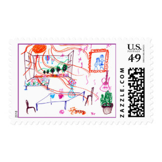 A Sunny Day Postage Stamps