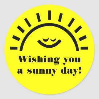 A sunny day stickers