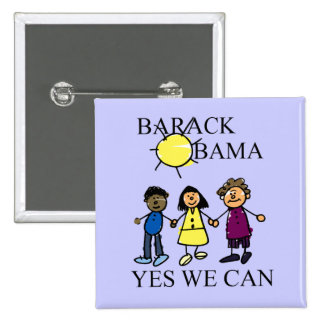 A SUNNY DAY WITH OBAMA BUTTON