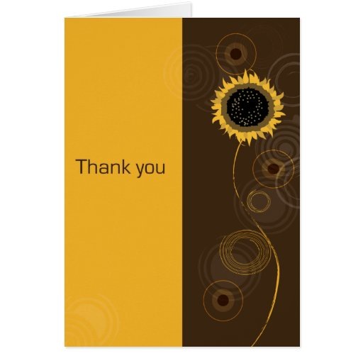 A Sunny Thank You Stationery Note Card