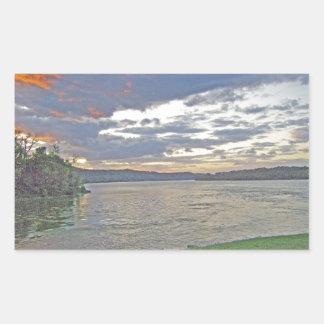 A Sunrise Along The Ohio River Rectangular Sticker