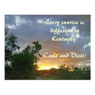 A Sunrise in Kentucky Postcard