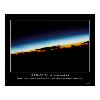 A sunrise seen from the Space Shuttle Endeavor Posters