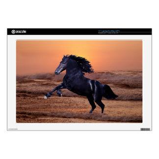 """A sunset ocean horse 17"""" laptop skin"""