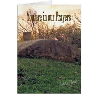 A Sunset Prayer-customize Greeting Card