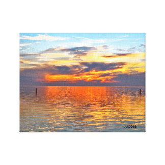 A sunset that is both colorful and calming canvas print