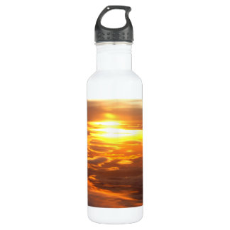 A Sunset View From The Ski Stainless Steel Water Bottle