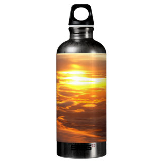 A Sunset View From The Ski Water Bottle