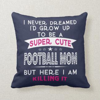 A Super cute Football Mom Throw Pillow