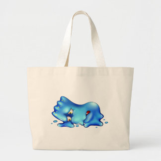 A super disappointed blue monster jumbo tote bag