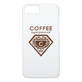 A Supercaffeinated Superhero - Coffee Brown iPhone 8/7 Case