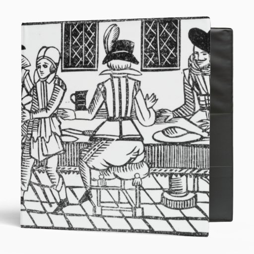 A Supper Party, a 'Book of Roxburghe Ballads' Vinyl Binders