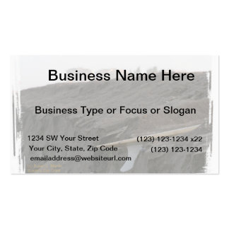 A surfboard sits on the beach in Florida on cliff Double-Sided Standard Business Cards (Pack Of 100)