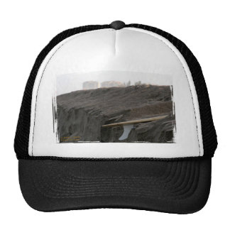 A surfboard sits on the beach in Florida on cliff Mesh Hats