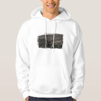 A surfboard sits on the beach in Florida on cliff Hoodie