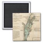 A Survey of Lake Champlain 2 Inch Square Magnet