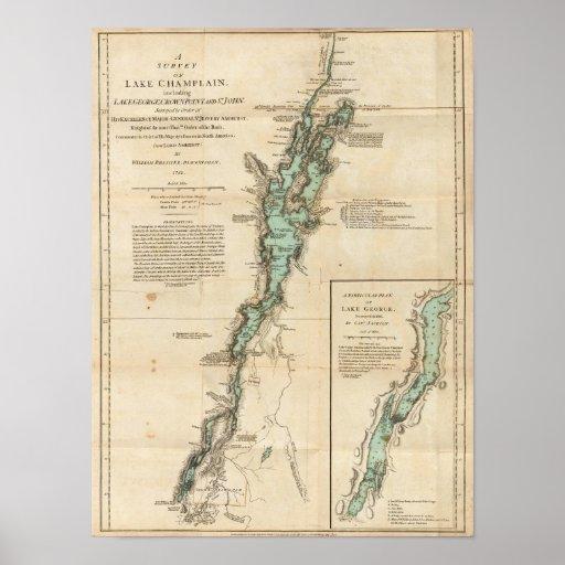 A Survey of Lake Champlain Print