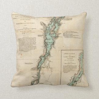 A Survey of Lake Champlain Throw Pillow