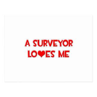 A Surveyor Loves Me Postcard