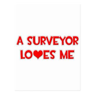 A Surveyor Loves Me Postcards
