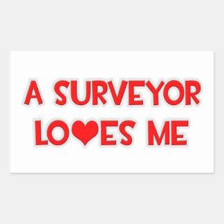 A Surveyor Loves Me Rectangular Sticker