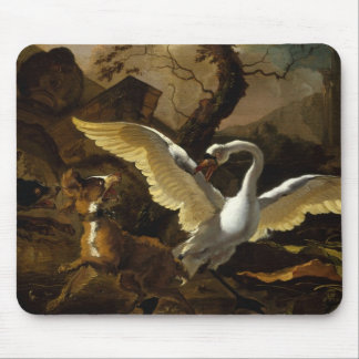 A Swan Enraged by Hondius Mouse Pad