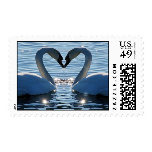 A Swan Heart Kiss, Reflections of Love Stamp