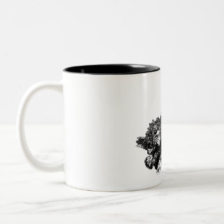 A Swarm of Butterflies Two-Tone Coffee Mug