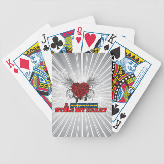 A Swedish Stole my Heart Bicycle Playing Cards