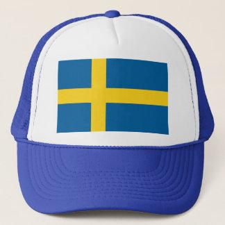 a swed's head trucker hat