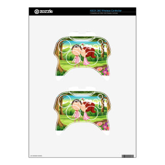 A sweet and loving couple at the forest xbox 360 controller skin