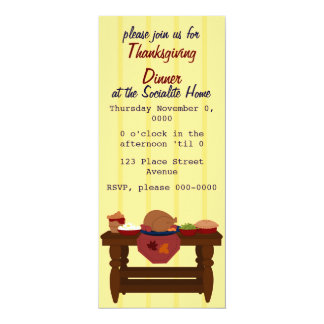 A Sweet and Simple Thanksgiving Dinner Card