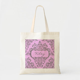 A Sweet Array of Pink and Gray Canvas Bag